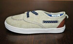Carter's Boys' Blaze Beige Slip-On Canvas Sneakers - Size 10