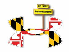Under Armour Armor with Maryland Flag Superimposed on logo Decal Sticker P29