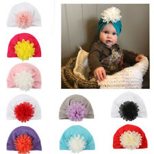 Newborn Toddler Floral Turban Cotton Beanie Hat Kids Baby Boys Girls Warm Cap