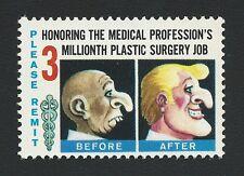 1964 Plastic Surgery Surgeons Medicine Physician MAD Magazine Novelty Stamp MINT