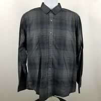 Bugatchi Uomo Classic Fit Men's Black Check L/S Casual Button Shirt Sz Large L
