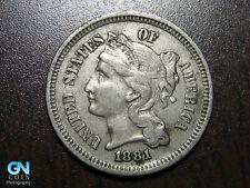 1881 3 Cent Nickel Piece    BETTER GRADE!  NICE TYPE COIN!  #B1259