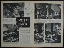 MarXman Briar Meerschaum Pipes 1947 Factory pictorial