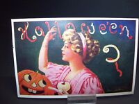 Bernhardt Wall 1909 Original Halloween Embossed International Art Post Card #10