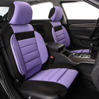 Universal 2 Front Car Seat Covers Purple Soft Sofa Breathable for Girls Women
