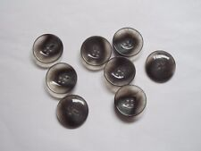 8pc 25mm Opaque & Grey Feather Effect Coat Suit Cardigan Knitwear Button 5217