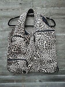 Tintamar Vest Bag LTD Edition Puffy Leopard Print Multi Pocket Vest/Bag Small
