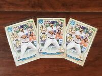 3x YORDAN ALVAREZ 2020 Topps Gypsy Queen RC #137 Rookie Lot of 3 Houston Astros