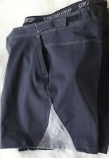 Specialized Womens Shorts Cycling Removable Padded Liner Black Small Nylon Baggy