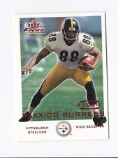 2000 Fleer Focus #212 Plaxico Burress RC /1999 Insert Parallel MSU Steelers