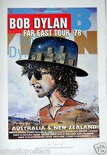 "BOB DYLAN ""FAR EAST TOUR 1978"" AUSTRALIAN LIMITED EDITION CONCERT POSTER PRINT"