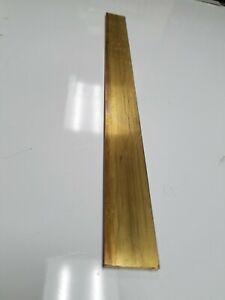 "1/8"" x 1"" C360 BRASS FLAT BAR 12"" long Solid .125"" Plate Mill Stock H02"