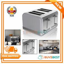 Swan 4-Slice Retro Stainless Steel Toaster 1600 W, Grey - ST19020GRN