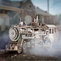 ROBOTIME Modellbausätze DIY hölzernen Dampflokomotive Kits Spielzeug Geschenk