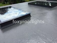 Skylight Flat Roof Rooflight Triple Glazed Self Clean Glass 600mmx900mm +Kerb