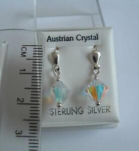 New 925 Sterling Silver crystal earrings in gift box