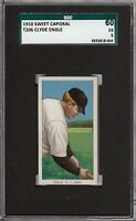 Rare 1909-11 T206 Clyde Engle Sweet Caporal 350 New York SGC 60 / 5 EX
