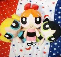 "3Pcs Powerpuff Girls Doll The 1999 Cartoon Network Plush Toy Kid'S Gift 9"""