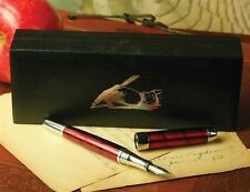 Victorian Trading Co. Crimson Fountain Pen w/ Black Ink Cartridge Giftboxed NIB