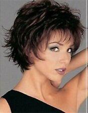 Belle brun foncé courte mixte perruquewig+Hairnet