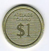 $1 Adelaide Casino - Genuine Casino Chip (Now Sky City Casino)