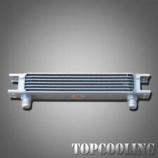 Universal 7 Row AN10 Aluminum Engine Transmission Oil Cooler Mocal Style Silver