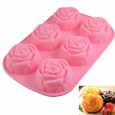 6-Rose Silicone Mould Cake Chocolate Candy Jelly Pudding Craft Mold Baking Tool