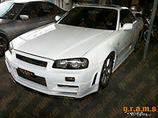 Nissan Skyline R34 Z-Tune Style CARBON FIBER Front Bumper BodyKit Performance V6