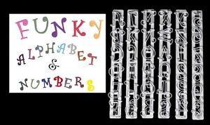 Fondant Alphabet and Number Cutters Uppercase Cake Fondant Stamp Sugarcraft