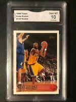1996-97 Topps #138 Kobe Bryant RC Rookie HOF GMA 10 GEM MINT PSA BGS COMP LAKERS