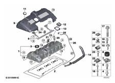 Genuine BMW Z4 E85/E86 Rocker Cam Cover Gasket Set 11127582245 2.5i/3.0i