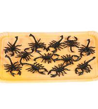 12 Plástico Negro Halloween escorpiones Decoración Utilería 7 cm Tamaño Araña Insectos Bug