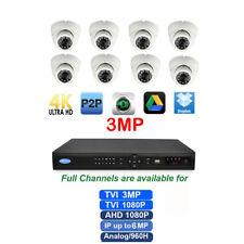 16Ch 5-IN-1 3MP DVR  Full CH Support  TVI/CVI/AHD/960H/IP 8 Pcs  3.6mm Camera