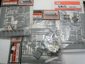 3 X  MINI MODELS HO 1700 CHS COAL HOPPER KITS + 1 X A.M.R.I 1700 COAL HOPPER KIT