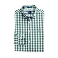 GANT Shirt Mens Designer Regular Fit Heather Oxford Gingham Top Loden Green NEW