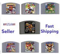 Mario Kart N64 Mario Party 1 2 3 N64 Nintendo Collection Game Cartridge US Stock
