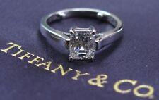 Tiffany & Co Platinum Emerald Cut Diamond Engagement Ring 1.00Ct G-VVS2