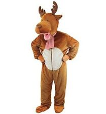 FANCY DRESS REINDEER/MOOSE /STAG WITH BIG HEAD COSTUME ADULT COSTUME
