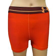 Under Armour UA HeatGear Alpha Ladies Orange Shorty Tight Running Shorts S