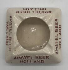 Vintage Amstel Beer Holland Advertising Porcelin Ashtray R