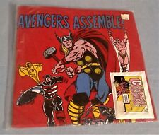 VINTAGE 1988 COMIC IMAGES AVENGERS LARGE FACTORY SEALED T SHIRT W/CARDS NEW NOS!