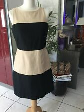 Robe BANANA REPUBLIC taille 8 soit 40/42 beige/noire impeccable