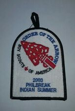 PHILMONT 2003 PHILBREAK AND INDIAN SUMMER DALLAS PLANNING MEETING PATCH OA
