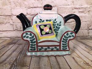 Mary Englebright ceramic big chair tea pot 7x 8.5