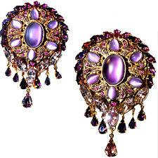Dolce & Gabbana Openwork gold-plated brass Swarovski Crystal Embellished Brooch
