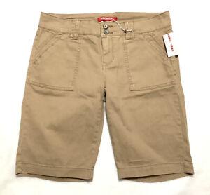 Union Bay  Women's/ Junior Flat Front Blanche Bermuda Shorts Size 11 Khaki  NWT