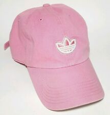 Adidas 1990's Vintage Dad Cap Baseball Hat Unstructured Pink 3 Stripes in EUC