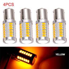 4X Yellow 1156 BA15S 5630 33SMD LED Canbus Car Backup Reverse Turn Signal Light