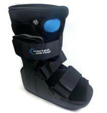 United Ortho Short Air Cam Walker Fracture Boot Black SMALL