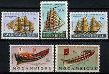 Mozambique 1963-4, 5 MNH Ship Stamps Cat £8+ #D39742